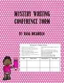 Mystery Writing Conference Sheet