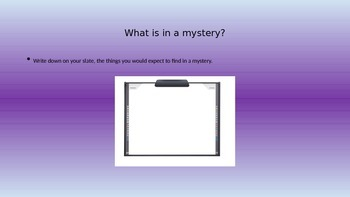 Mystery Writing - Harris Burdick