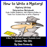 """Mystery Writing, """"How to Write a Mystery"""" Interactive Notebook, Student Guide"""
