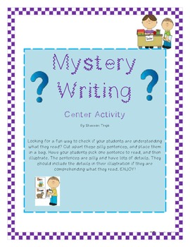 Mystery Writing - a center activity