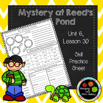 Mystery at Reed's Pond (Skill Practice Sheet)