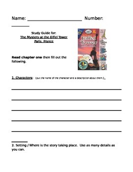 Mystery at the Eiffel Tower Paris, France by Erin Kelly Study Guide