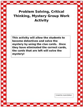 Mystery card activity