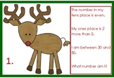 Mystery number math riddle Reindeer Riddles