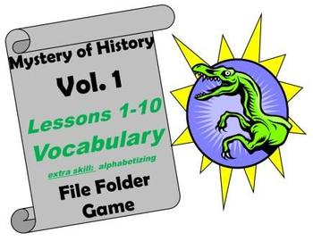 Mystery of History Volume 1 Lessons 1-10 Vocabulary