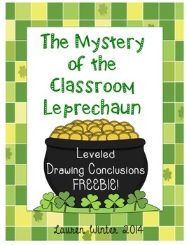 Mystery of the Classroom Leprechaun: Leveled Drawing Conclusions FREEBIE!