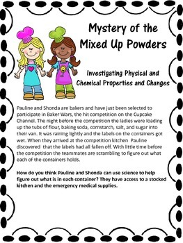 Mystery of the Mixed Up Powders Chemistry Lab
