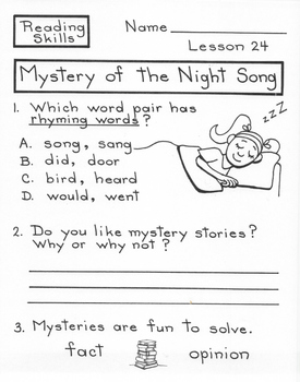 Mystery of the Night Song  1st Grade Harcourt Storytown Lesson 24