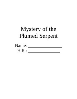 Mystery of the Plumed Serpent Skills-Based Questions Packet
