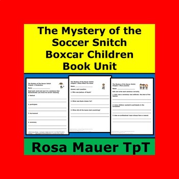 Mystery of the Soccer Snitch Boxcar Children