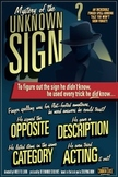 Mystery of the Unknown Sign. ASL