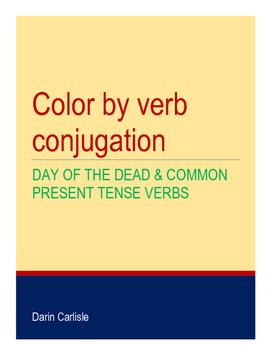 Mystery picture - Day of the Dead - Dia de los Muertos verb conjugations