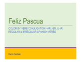 Mystery picture Color by Spanish verb conjugation Pascua Easter No Prep