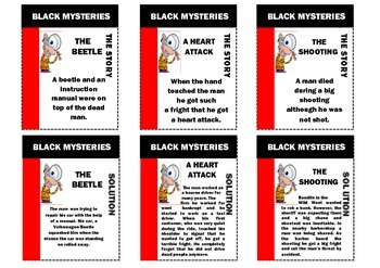 Mystery story game - Black stories