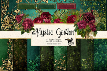 Mystic Garden Digital Scrapbook Kit