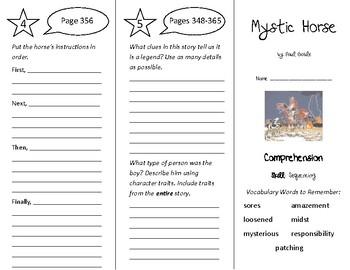 Mystic Horse Trifold - Treasures 4th Grade Unit 3 Week 4 (2009)