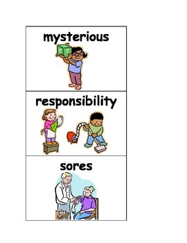 Mystic Horse - vocabulary picture cards