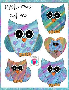 Mystic Owl Clip Art Set #6