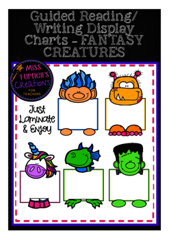 Mystical Creatures Guided reading group display charts