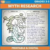 Greek Mythology Research & Coloring - Gods, Goddesses & Ot