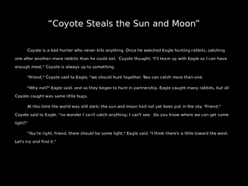 Myth: Coyote Steals the Sun and Moon
