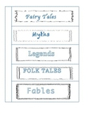 Myth, Fables, Fairy Tales, Legend and Folk Tale Graphic Organizer