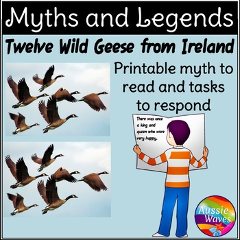 Myth Legend Irish 12 WILD GEESE Text & Task Cards Connecti