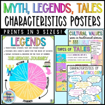Myth, Legends, and Tales Anchor Charts