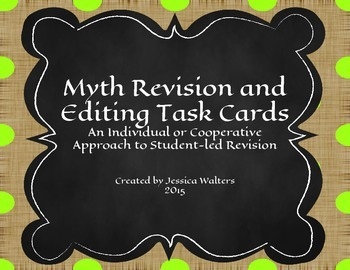 Myth Revision and Editing Task Cards