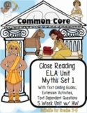 Myth Unit: Text Coding, Close Reading, Reading Response Activities