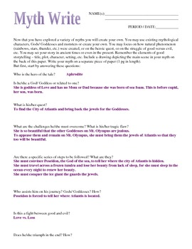 Myth Write Answers