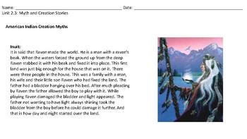 Myth and Creation