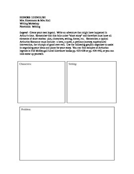 Myth and Legend Story Map/Graphic Organizer