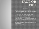 Myth and Origin Myths - Fact or Fib