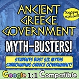 "Ancient Greece Government: Myth-Busters! Students prove or ""debunk"" 6 myths!"