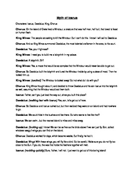 Myth of Icarus Short Skit Script