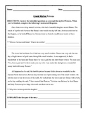 Myth of Perseus: Guided Reading and Constructed Response