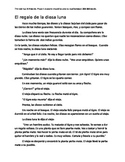 Myth re-written for Phase 1 Spanish language students