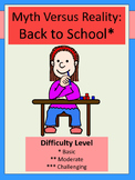 Myth versus Reality Activity - Liven up the First Day of School!