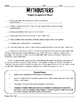 MythBusters Scientific Method Science Project Assignment Packet