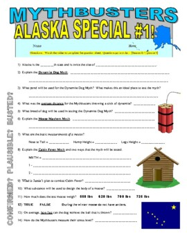 Mythbusters : Alaska Special 1 (science video worksheet)