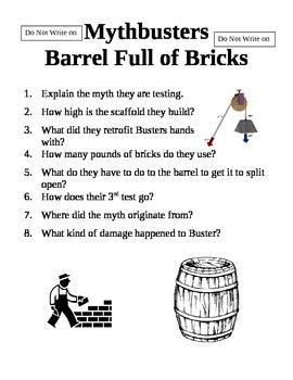 Mythbusters Barrel Full of Bricks