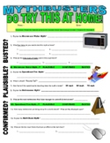 Mythbusters : DO Try This at Home (video worksheet)