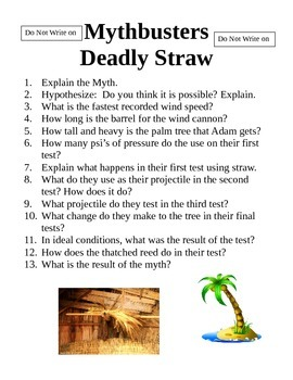 Mythbusters Deadly Straw