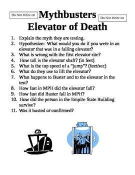 Mythbusters Elevator of Gravity