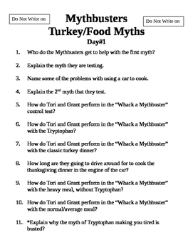 Mythbusters Food Turkey Fables
