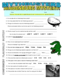 Mythbusters : Hindenburg Mystery (video worksheet)