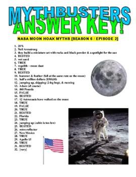 Mythbusters : NASA Myths (video worksheet)