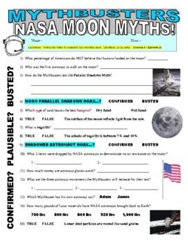 Mythbusters Science Worksheet | Teachers Pay Teachers
