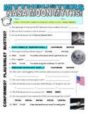 Mythbusters : NASA Moon Myths (science video sheet / STEM / space)